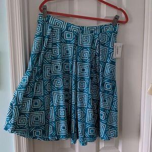 NWT Teal Madison Lularoe skirt sz XL